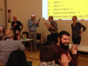 Thanks to the quiz organisers, Catherine, Paul & Neil