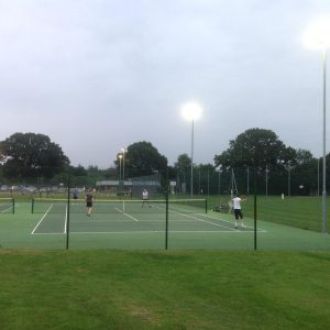 New floodlights on the upper courts